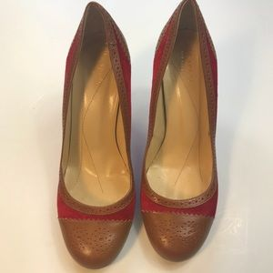 Kate Spade Red Suede Leather Heel